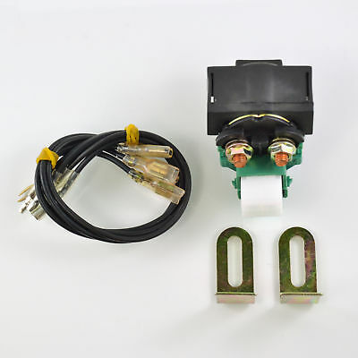 New Universal Motorcycle Solenoid Starter Relay Switch With Multiple Connectors
