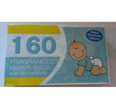 BML Nappy Bags with Tie Handles 160 Pack / 320 pack