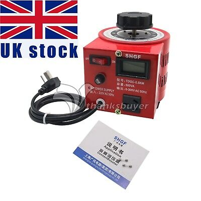 0.5kva 220V Variac Autotransformer Voltage Regulator Powerstat 0-300V Output UK