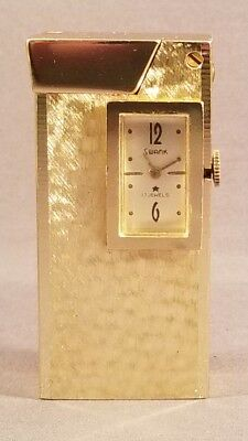 Vintage Swank Watch Pocket Lighter Swiss Made
