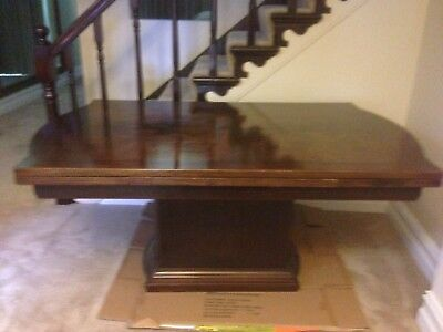 Antique Walnut dining table with extendable leafs sits 8 - 10 people
