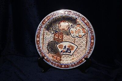 Chinese Imari Tongzhi Plate With 6 Character Maker's Mark