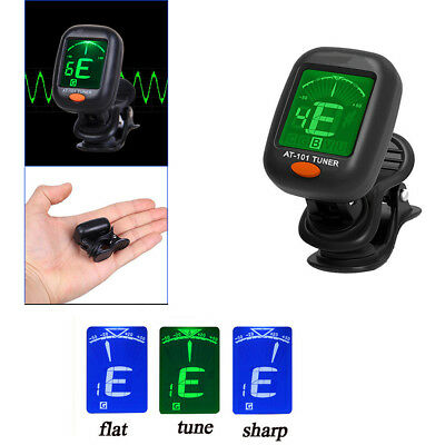 Digital Chromatic LCD Clip-On Electric Tuner For Bass Guitar Ukulele Violin Hot