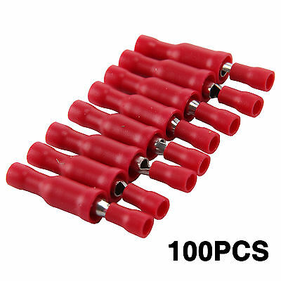 100pcs Assorted Insulated Electrical Wire Terminal Crimp Connector Spade Set Kit