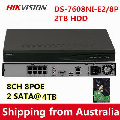 Hikvision Upgradable DS-7608NI-E2/8P 8CH 8POE 5MP HD Network NVR 3Years Warranty
