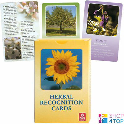 Herbal Recognition Laminated Cards Deck Travel Companion Agm New