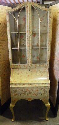 "Decorative 1930'S Vintage ""QUEEN ANNE"" Style Writing Bureau / Cabinet"
