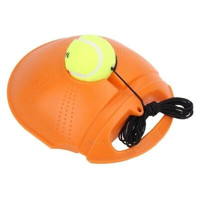 Tennis Ball Singles Training Practice Drill Balls Back Base Trainer Tool O5C4