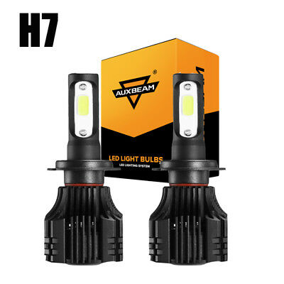 AUXBEAM H7 72W 8000LM LED Headlight Kit Fog Light Bulbs 6500K Low Beam High Powe