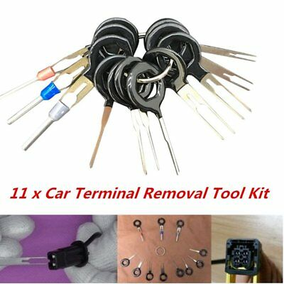 11*Terminal Removal Tool Car Electrical Wiring Crimp Connector Pin Extractor KUP