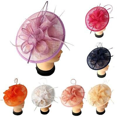 Ladies Large Headband,Clip Hat Fascinator Weddings Special Day Race Royal Ascot