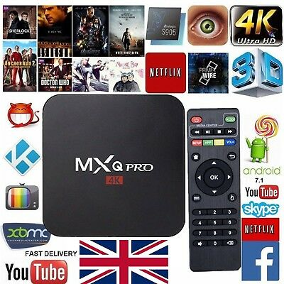 MXQ PRO Smart TV Box UHD 4K Android 7.1 KODI 18.0 S905W Quad-Core 1G+8G Wifi CA