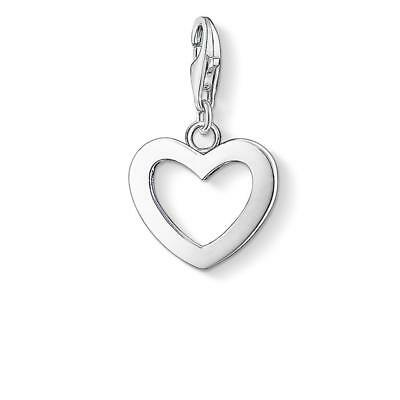 Thomas Sabo Women-Charm Pendant Heart Charm Club 925 Sterling Silver 0913-001-12