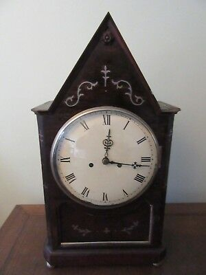 EARLY 19 th CENTURY ROSEWOOD FUSEE STRIKING BRACKET CLOCK