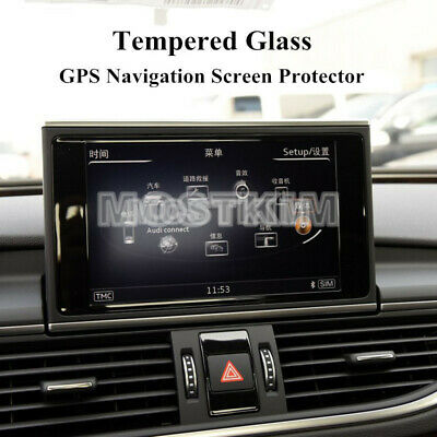 Tempered Glass GPS Navigation Screen Protector For Audi A6 A7 S6 S7 2012-2018