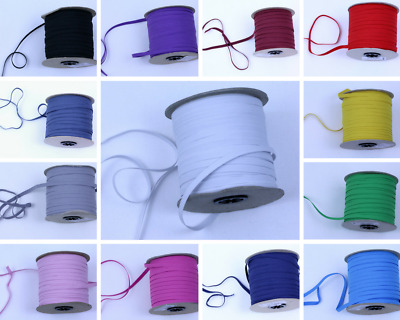 6.6mm flat sewing elastic, dressmaking cord, 13 colours, woven tailoring band