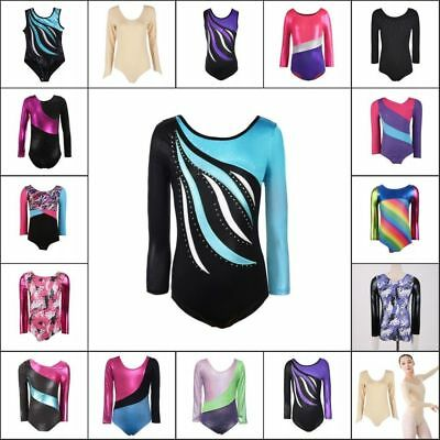 Little Kid Girl Ballet Dancewear Gymnastics Leotards Bodysuits Skating Costumes
