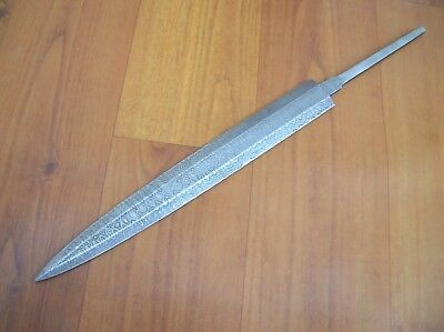 Beautiful Damascus steel dagger blade Blank Knives beautifull Blade knife making