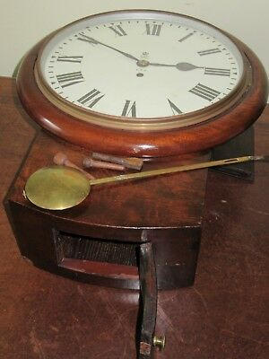 Fusee Wall Clock. 1950's  E11R Gpo 12 Inch Drop Dial
