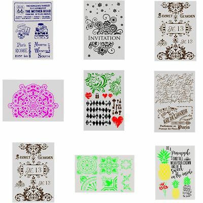 DIY Craft Stamp Wall Painting Embossing Template Scrapbooking Layering Stencils
