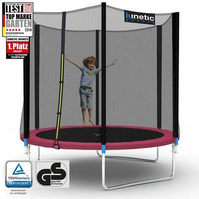 Kinetic Sports Outdoor Trampolin Gartentrampolin mit Netz Randabdeckung 250 cm
