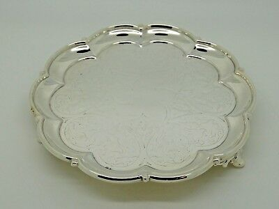 Antique Victorian Silver Salver / Waiter  London 1857 – Edward & John Barnard