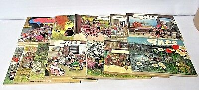 13 Giles cartoon magazines, Daily Express, various  25th-45th 70s-90s  (Fra)