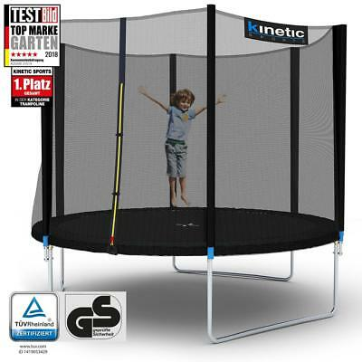 Kinetic Sports Outdoor Trampolin Gartentrampolin mit Netz Randabdeckung 310 cm