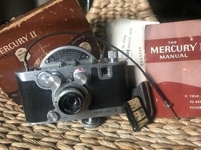 Collectors MERCURY II CX 35mm CAMERA TRICOR With Extras Excellent