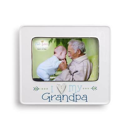 "I Love My Grandpa Picture Frame Easel Backer Triangle Hanger Holds 6"" Photos New"