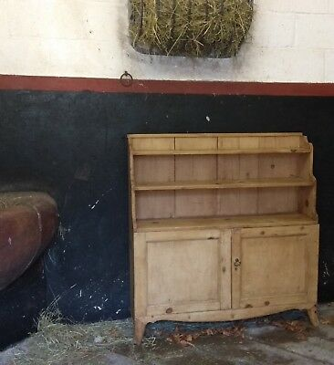 Stunning, antique pine dresser, kitchen cupboard, country, rustic, shabby chic