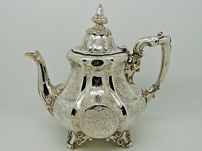 Antique Victorian Silver Teapot London 1854 – James & Nathaniel Creswick
