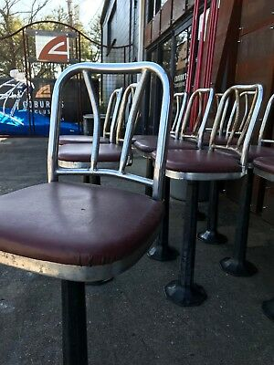 Original Antique 1960's Woolworth's Lunch Counter Stools