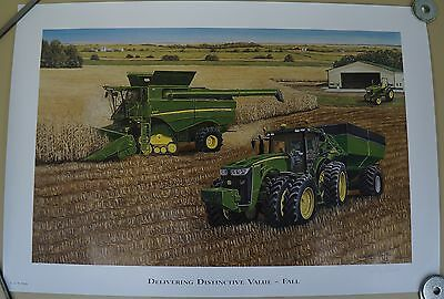 2 Pc John Deere Dealer Artist Le Print Delivering Distinctive Fall Spring Postor