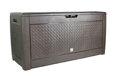 Outdoor Garden Storage Plastic Box Cushion Utility Chest Shed Box 310L Patio
