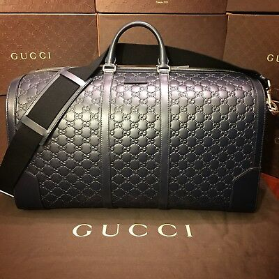 f363b165fd9 GUCCI SIGNATURE LEATHER Duffle Bag Large Size NEW -  2