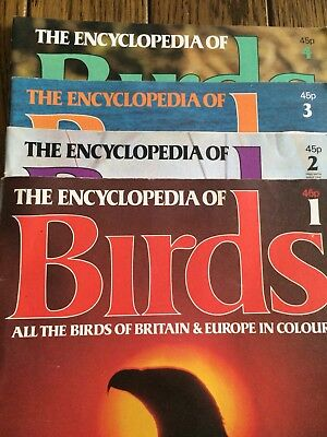 Encyclopedia Of Birds Weekly Publication Volume 1 Issues 1 - 4
