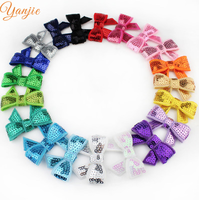 NEW Beautiful Sparkly Sequinned Bow Hair Clip, UK Seller
