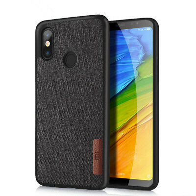 Shockproof Soft TPU+Flannel Leather Back Cover Case For Xiaomi Redmi Note 5 Pro