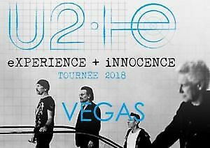 Two Tickets U2 Experience +  Innonence T-Mobile Arena, LAS VEGAS, May 11, 2018