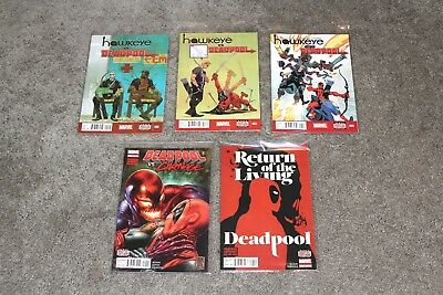 Lot of 5 Deadpool Marvel Comics Collection Hawkeye Carnage Mixed Lot