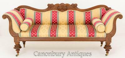 Antique Regency Mahogany Settee Couch