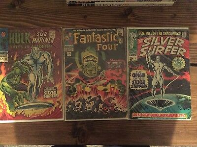 Silver Surfer #1, Fantasic Four #49, Tales to Astonish #93