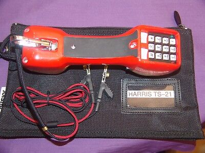 Excellent Harris Ts21 Butt Set W Abn Test Cord Fluke Tested