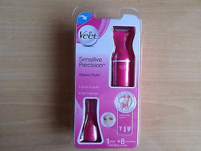 Veet Sensitive Precision Trimmer Womens Eyebrow & Bikini Beauty Styler PINK