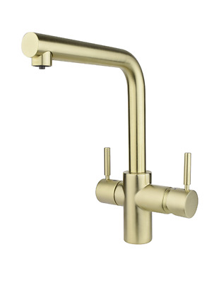 Insinkerator 3 In 1 Steaming Hot Water Tap   L Shape   Satin Gold 44837ASKIT