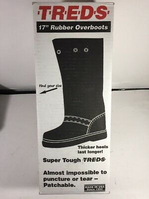 """Treds 17859 TREDS Super Tough 17"""" Pull-On Stretch Rubber Overboots XS"""