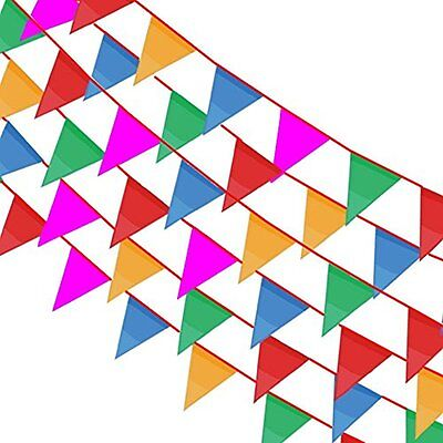 Multicolor Banners & Garlands Pennant 164ft Party Rainbow String Curtain Flags
