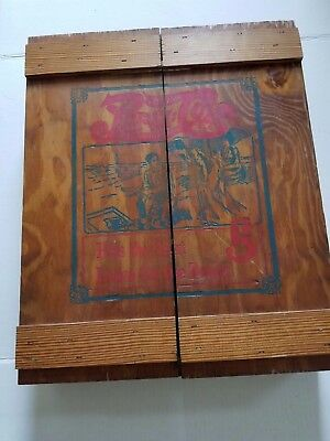 Vintage Pepsi Cola Wood Box with doors 5 Cent Rare Hard to Find