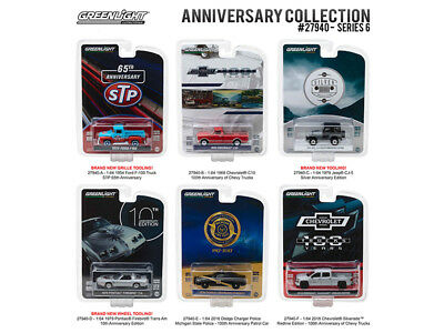 Greenlight Anniversary Collection Series Six Piece Car Set 1:64 Model - 27940